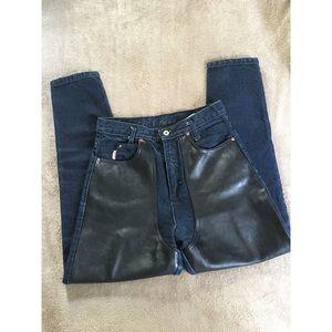 c8da8ec4918750 Jou Jou Jeans | Joujou 1980s Faux Leather Panel Chaps | Poshmark